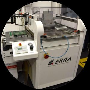 Ekra-maschine, bei Esysco, für Produktion von SMD Leiterplattenbestückung