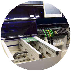Mimot-maschine, bei Esysco für Produktion von SMD Leiterplattenbestückung